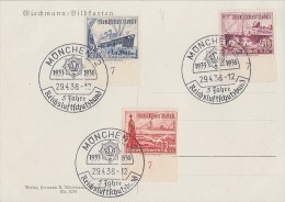 Wichmann-Karte Minr.656,658,659 Alle UR SST München 29.4.38 - Germany