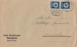DR Orts-Dienst-Brief Mef Minr.2x D133 Mannheim 10.12.35 - Dienstpost