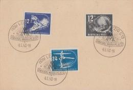 DDR Blanco-Karte Minr.245,246,247 SST Leipzig 8.3.50 - Briefe U. Dokumente