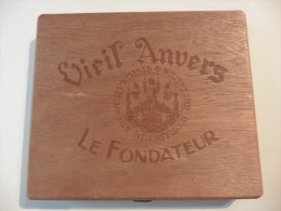 Belgique :Antwerpen  Boîte à Cigares  Bois : Viel Anvers :Le Fondateur - Étuis à Cigares