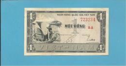 VIET NAM SOUTH - 1 DONG - ND ( 1955 ) - P 11 - SÉRIE 8-A - Woman Farm Worker / Rice Paddy Worker - VIETNAM - 2 Scans - Vietnam