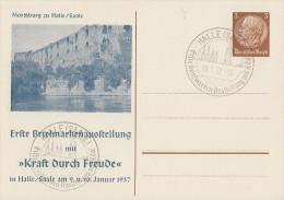 DR Privat-Ganzsache Minr. PP122 C40 SST Halle/S. 10.1.37 - Deutschland