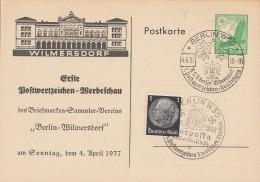 DR Privat-Ganzsache Minr. PP142 C10 SST Berlin 4.4.37 - Deutschland