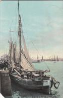Oostende, Ostende, Un Coin Du Port De Pêcheurs, Vissersboot Camille, éénmastsloep Type 1880 (pl15941) - Oostende