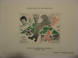 Monaco 1990 Yvert BF50 ** - Football -- Michel B48 -- SG MS1986  -- Scott 1718 - Blocs