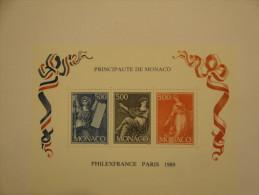 Monaco 1989 Yvert BF47 ** - Philexfrance -- Michel B45  --  Scott 1684 - Blocs