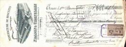 LETTRE DE CHANGE - 1903 - Belle Traite Illustrée Confiserie Fradin TOURS - 1900 – 1949