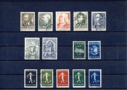 NVPH Nr. 318 T/m 331 (1939 Compleet) Gebruikt (CW = € 22,50) - Period 1891-1948 (Wilhelmina)