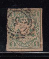 Bavaria Used Scott #15 Or #15a 1kr Coat Of Arms, Imperf Cancel: ´93´ - Bavière
