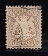 Bavaria Used Scott #25 6kr Coat Of Arms - Bavière