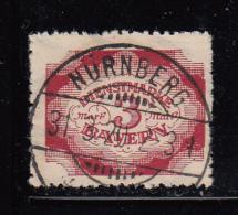Bavaria Used #O50 3m Official - Rough Perfs SON Cancel: Nurnberg 31 3 20 - Bavière