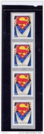 CANADA 2013, #2678, SUPERMAN 75th,  STRIP OF 4 FROM ROLLS MNH - Roulettes