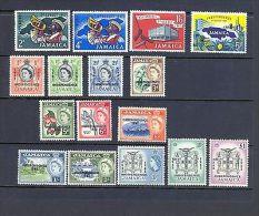 JAMAICA SG 181-96 1962 INDEPENDENCE OVERPRINT SET. MNH - Giamaica (...-1961)