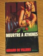 Livre Gérard De Villiers SAS N° 044 Meurtre à Athènes 1990 Editions Vaugirard - SAS