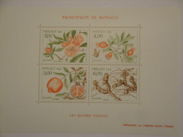 Monaco 1989 Yvert BF44 ** - Les 4 Saisons Du Grenadier  -- Michel B42  -- SG  MS1946 - Blocs