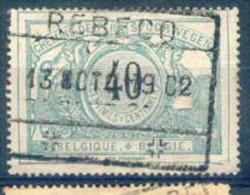 K362 Belgie Spoorwegen Met Stempel REBECQ - Chemins De Fer