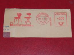1966 745 Hechingen Gebr. Biedermann Stuhl Bürostuhl Chair Freistempel Meter Mark Slogan Deutschland Germany - Machine Stamps (ATM)