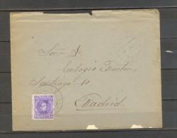 1909 ORENSE, SOBRE CIRCULADO ENTRE RIBADAVIA Y MADRID. - 1889-1931 Reino: Alfonso XIII