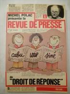 """CABU LOUP SINE Carricatures, Dessins De L´émission De Michel POLAC """"DROIT DE REPONSE"""" EDITION DE 1983 Voir Les Scans - Cabu"""