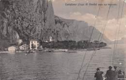 """03034 """"CAMPIONE  (LAGO DI GARDA) - VISTO DAL PIROSCAFO"""".  ANIMATA. CARTOLINA ORIGINALE, NON SPEDITA. - Italie"""