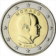 Monaco 2011    2 Euro     Prins  Albert   UNC Uit De Rol  UNC Du Rouleaux  !! - Monaco