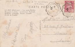 GANDON 3F SUR CPA CAD CONVOYEUR LE PUY A ST GEORGES D AURAC 23/7/47 N° 3252 IIIA     TDA38 - Railway Post