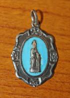 """Pendentif Médaille Religieuse Argent 925 émaillé """"Souvenir De Sainte Anne D'Auray"""" Silver Religious Medal - Religione & Esoterismo"""