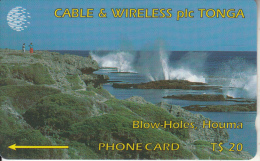 TONGA(GPT) - Blow Holes, First Issue $20, CN : 1CTGC, Tirage 5000, Used