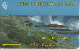 TONGA(GPT) - Blow Holes, First Issue $20, CN : 1CTGC, Tirage 5000, Used - Tonga