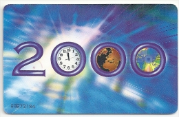 Cayman Isl. - Millennium 2000 Chip Card Definitive Series, 1999, Used - Cayman Islands