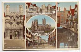 Royaume-Uni--CANTERBURY--1957--Multivues Et Carte à Système (13 Vues) éd Valentine´s Mail Novelty - Canterbury