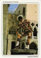 Grande Cp Carnaval De Venise Arlequin Non Circulee - Costumes