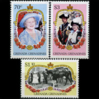 GRENADA GRENADINES 1986 - Scott# 686-8 Queen Mother Set Of 3 MNH (XV347) - Grenada (1974-...)