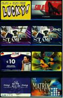 8 Verschiedene Prepaid Card Telefonkarten  -  Lucky!  -  2 X Stamp  - Ding Dong  -  3 X Lycatel  -  Ortel  (4) - Telefonkarten