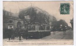 Bordeaux - Fête Des Vendanges - Le Char De La Prune 1909 ( Avec Verso ) - Bordeaux