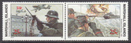 MARSHALL Is,1990 INVASION OF DENMARK PAIR MNH - Marshall