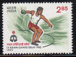 India 1982 MNH,  Asian Games, Sport 2.85p Discuss, Athletics - Inde