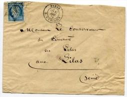 PARIS Env. Du 17/12/1874 Avec N°60 Oblitéré Etoile 4 R D ENGHIEN - Marcophilie (Lettres)