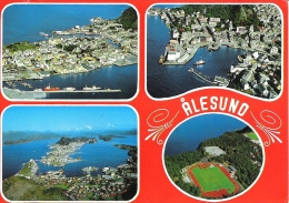 SCENES FROM ALESUND, NORWAY. USED POATCARD Am6 - Norwegen