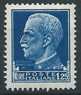 1929-42 REGNO IMPERIALE EFFIGIE 1,25 LIRE MNH ** - T46-2 - 1900-44 Victor Emmanuel III