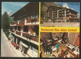 ZERMATT Restaurant MAX JULEN Das Haus Des Olympiasiegers Hotel BEAU RIVAGE 1995 - VS Valais