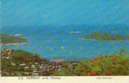CP.  VIRGIN  ISLANDS.  ST.  THOMAS.  WORLD'S  LARGE  CRUISE  SHIP S.S  NORWAY - Jungferninseln, Amerik.