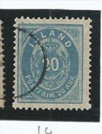 ISL002 - ISLANDA - N. 14- 20 A. CIFRA E CORONA - CAT. UNIFICATO - Oblitérés