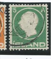 ISL004 - ISLANDA - N. 68- 5 A. EFFIGIE DI RE FEDERICO VIII - CAT. UNIFICATO - Oblitérés