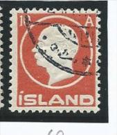 ISL005 - ISLANDA - N. 69 - 10 A. EFFIGIE DI RE FEDERICO VIII - CAT. UNIFICATO - Oblitérés