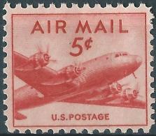 U.S. Airmail. 1946. Scott.N°C33. DC-4 Skymaster & Douglas DC-4. Neuf, MNH (**) - 2b. 1941-1960 Unused