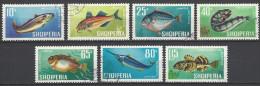 ALBANIEN  Mi-Nr. 1131 - 1137 Fische Gestempelt - Poissons