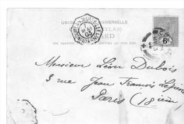 Ligne Maritime Nouméa à Marseille N°1 - Oblit . Du 7/05/1903 Sur Carte Postée à Colombo(Ceylan ) - Marcophilie (Lettres)