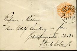 SWEDEN 1892 LINKÖPING VINTAGE STATIONARY LADY COVER - Cartas