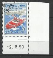 """Monaco YT 1741 """" Championnat D´offshore """" 1990 1er Jour BDF Daté - Monaco"""